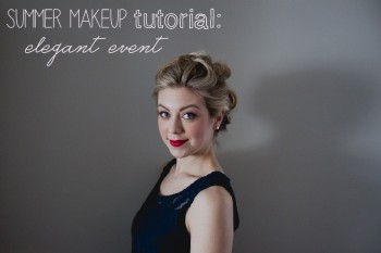 summer makeup tutorial: elegant event