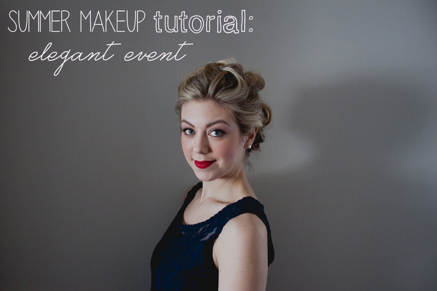 summer makeup tutoriak elegant event