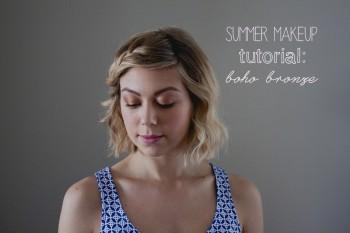 summer makeup tutorial: boho bronze