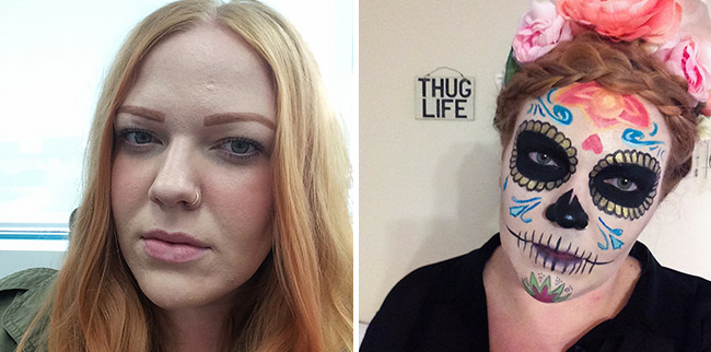 sugar skull makeup 2