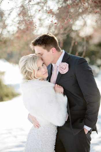 on the go bride feature – dreamy pink and white winter wedding